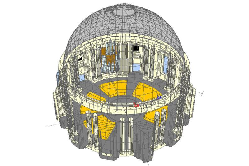 3D-Modell St. Hedwigs-Kathedrale, Berlin